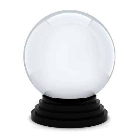 bola de cristal: 3d bola de cristal vac�o en el fondo blanco