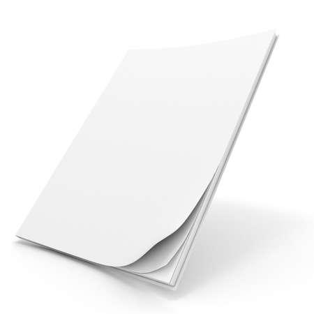 portada de revista: Libro de 3d con portada en blanco