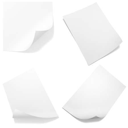 3d blank paper sheet pack Stock Photo - 11350531