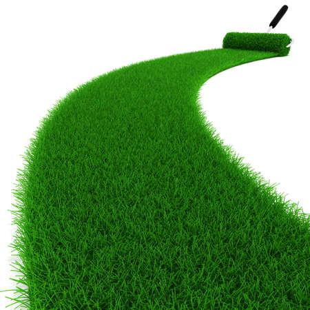 grass country: 3d fresh green grass