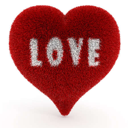 3d valentine heart, on white Stock Photo - 11782025