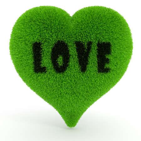 3d valentine heart, on white photo