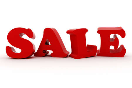 3d Sale text, on white background Stock Photo - 11909567