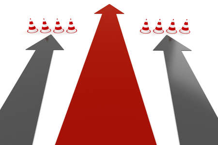 3d arrows and cones Stock Photo - 11933052