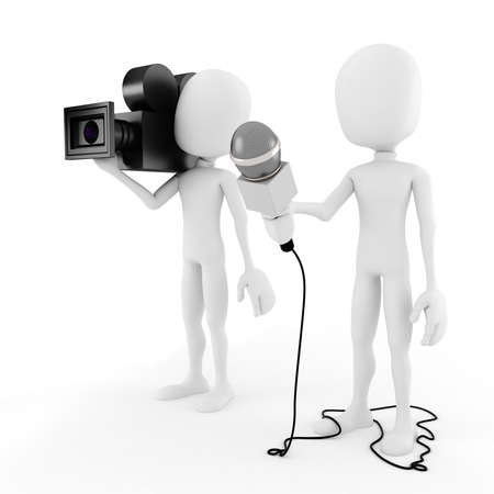 3d man reporter - interview photo