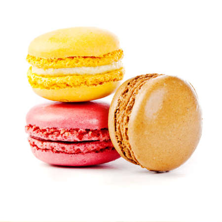 macaron: assorted colorful french macarons  Stock Photo