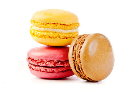 assorted colorful french macarons  photo
