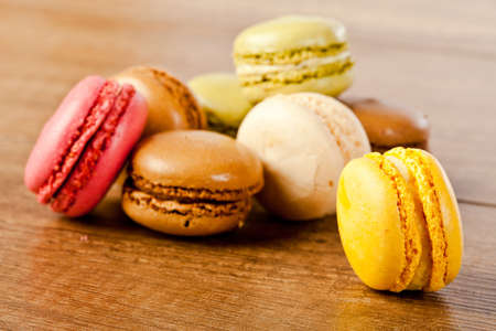 assorted colorful french macarons  Stock Photo - 12385072