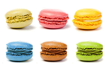 assorted colorful french macarons  Reklamní fotografie