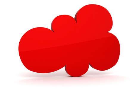 3d colorfull cloud shape of bubble talk Stock Photo - 12748814