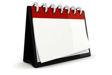 3d blank calendar ilustration photo