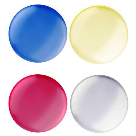 choose university: 3d colorful buttons