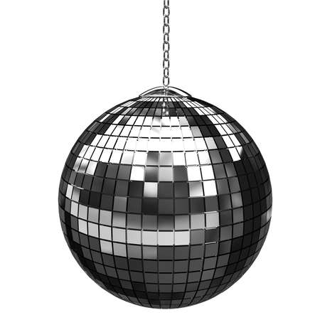 3d shiny disco ball photo