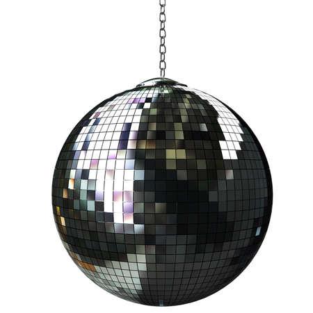 70s disco: 3d shiny disco ball