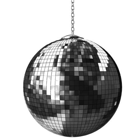 mirrored: 3d shiny disco ball