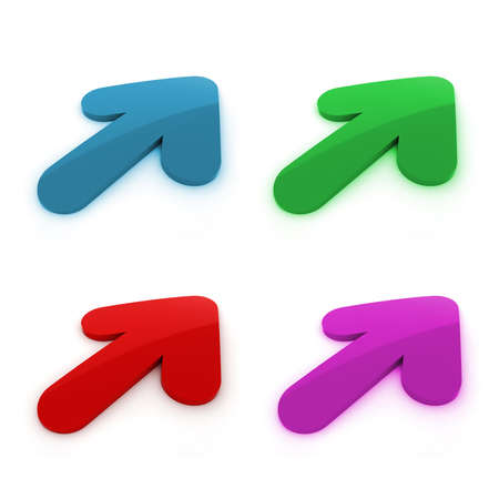 3d colorful arrows on white background photo