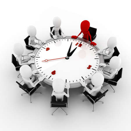 reunion de trabajo: El hombre de negocios 3d concepto de la conferencia