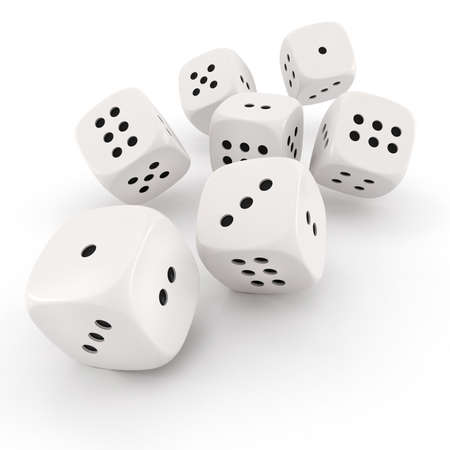 3d dice on white background photo