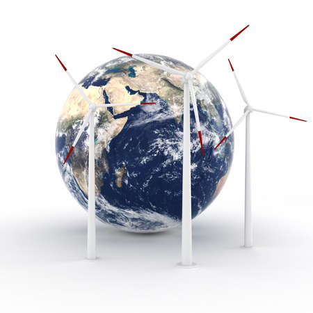 3d green energy concept Stock Photo - 13431942