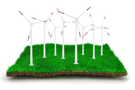 3d green energy concept photo