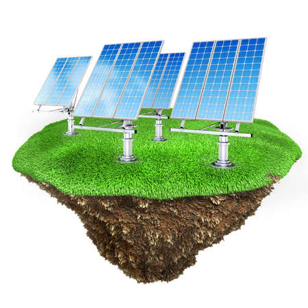 3d green energy concept Stock Photo - 13431950