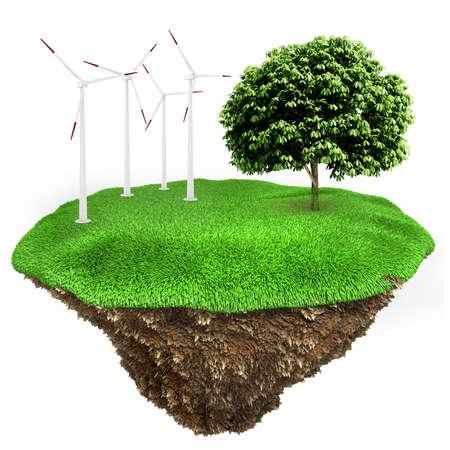 3d green energy concept Reklamní fotografie