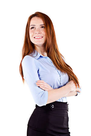 Portrait of a young beautiful  business woman photo