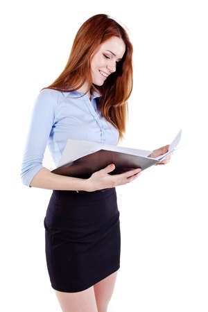 Attractive young business woman Stock Photo - 13568593