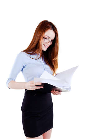 Attractive young business woman photo