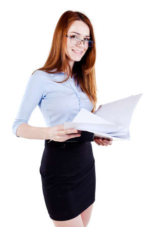 Attractive young business woman Stock Photo - 13568571