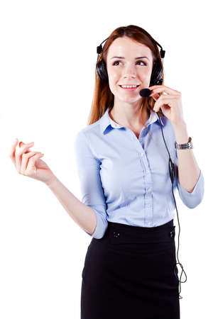 Attractive young  woman call center support Stock Photo - 13568595