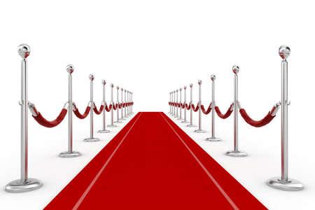 black carpet: 3d red carpet illustration
