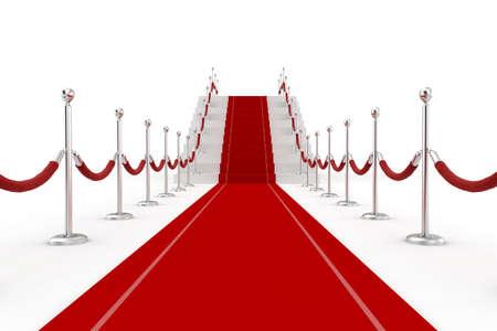 luz roja: 3d ilustraci�n de la alfombra roja