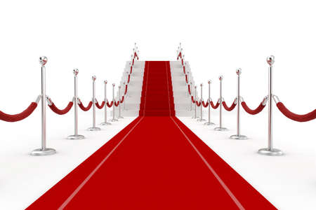 red line: 3d red carpet illustration