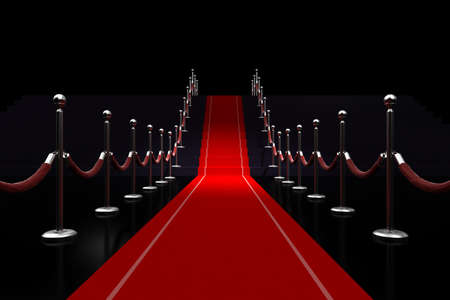 3d red carpet illustrazione
