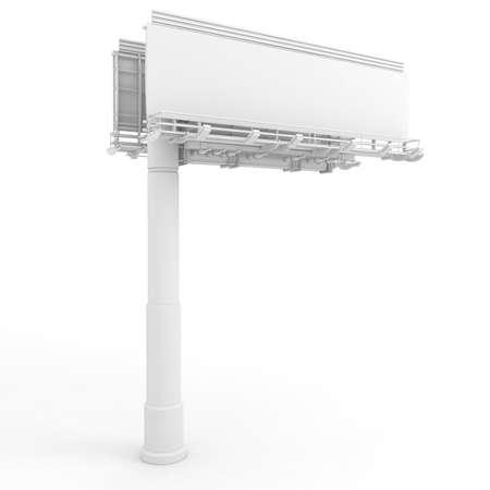 public market sign: 3d blank billboard Stock Photo