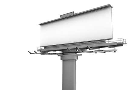 3d blank billboard photo