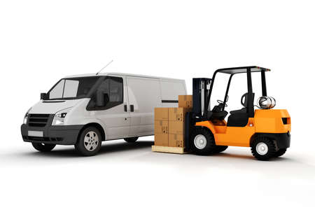 storage box: 3d global cargo transport concept