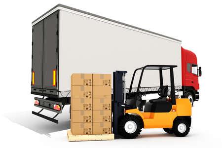 reach truck: 3d global cargo transport concept