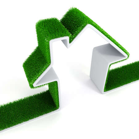 3d green ecology house concept Stock Photo - 13970999