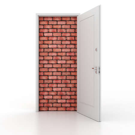 no way out: 3d door no way out Stock Photo