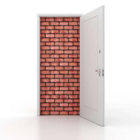 brick floor: 3d puerta sin salida Foto de archivo