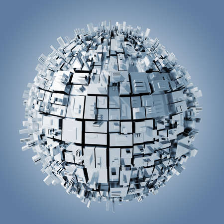 3d abstract sphere background photo