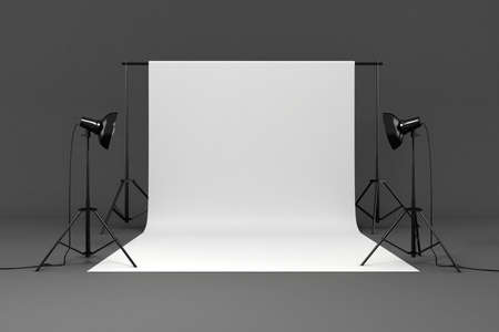strobe: 3d studio set Stock Photo