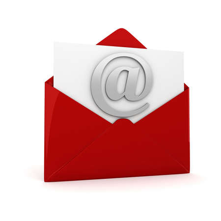 3d online email  on white background, concept Stock Photo - 14233953