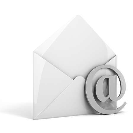 3d online email  on white background, concept photo