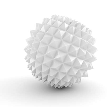 3d abstract sphere on white background photo