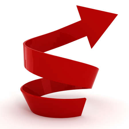 3d arrow pointing up ! photo