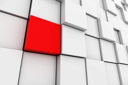 blue 3d blocks: 3d cube wall  Stock Photo