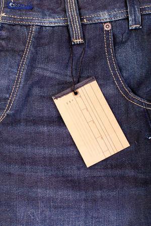 blank label tag, closeup photo